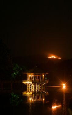 DAIMONJI-OKURIBI (Great Bonfire Festival), Nara, Japan