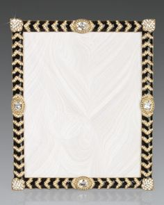 "Crystal+Chevron+8""+x+10""+Frame+by+Jay+Strongwater+at+Horchow."
