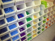 lego organization -my boys dream, but I am pretty sure they would not stay this clean in my house. lego organization -my boys dream, but I am pretty sure they would not stay this clean in my house. Stackable Plastic Storage Bins, Decorative Storage Boxes, Plastic Container Storage, Stacking Bins, Storage Containers, Lego Table With Storage, Lego Storage, Storage Units, Legos