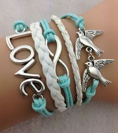 Many kinds of cheap mens bracelets, silver rings and personalized charm bracelet can be bought here for a good price. pineyin provides amazing infinity love bracelet - two birds bracelet,antique silver,mint white bracelet for girls,vintage style Bracelet Set, Bangle Bracelets, Anchor Bracelets, Infinity Bracelets, Bohemian Bracelets, Paracord Bracelets, Leather Bracelets, Leather Cuffs, Pearl Bracelet