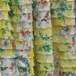 Ruffle Fabric 1 Inch Wide Yellow Floral Ruffle Fabric Boutique Quality by… Sewing Projects, Craft Projects, Sewing Ideas, Craft Ideas, Sewing Tips, Ruffle Fabric, Ruffles, Cute Curtains, Aprons Vintage