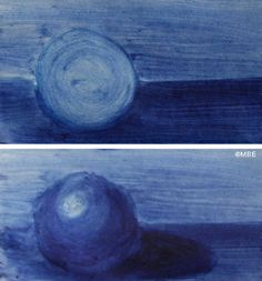 The difference between painting a circle and a sphere is the range of tones you use.