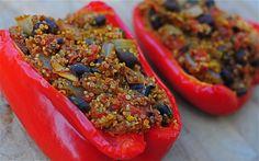 vegetarian stuffed peppers black beans tomatoes