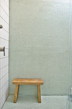 Fish Scale Tiles Penny Tiles Green Shower Wall and Floor Fab!