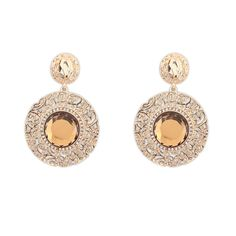 1,53€ - Glass Fashion Exquisite Round Drop Earrings Summer Style 3 Colors Elegant Earrings Jewelry For Women P108299 - Yi Wu DH Import & Export Co., Ltd. - https://www.youtube.com/watch?v=Jup2qyepnqg