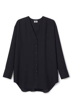 Weekday Rise chiffon blouse in Black