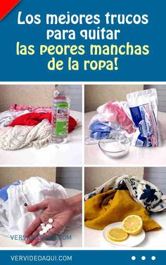 Los mejores trucos para quitar las peores manchas de la ropa #lavadora #lavar #ropa Quites, Soap, Personal Care, Tips, Bottle, Cleaning Supplies, Cleaning Tips, Cleaning Hacks, Wash Pillows