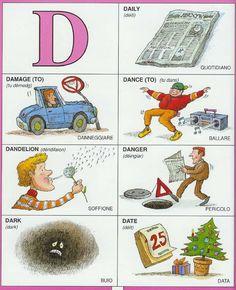 #1351 Parole Inglesi Per Piccoli e Grandi - Illustrated #Dictionary - D1