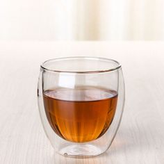 70 ML Transparent Heat Resistant Double Glass Cup Kung Fu Tea Cup