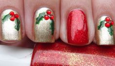 Christmas Nail Art Designs 1. We love these dotted Christmas trees by Keyla Shevonne. 2. Hollies by More Nail Polish. 3. Red Sweater by Current Fixation 4