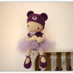 Ballerina Bear,now in my Etsy shop: www.etsy.com/shop/RusiDolls #crochet…