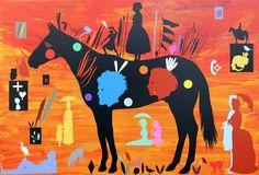 A Sunny Afternoon with Phar Lap on the Island of La Grande Jatte Art Gallery, La Grande Jatte, Visual, Artist, Moose Art, Painting, Visual Art, Nz Art