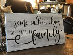 Shop our handcrafted, custom-made You Call It Chaos, We Call It Family wood sign by Sanity Crafts Boutique. You customize it, we create it! Together we'll bring warmth and coziness to your home decor. home decor signs You Call It Chaos Family Wood Signs, Wood Signs Sayings, Wood Signs For Home, Diy Wood Signs, Custom Wood Signs, Home Decor Signs, Rustic Signs, Wall Signs, Wooden House Signs