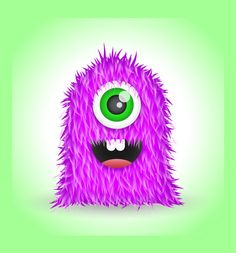 Create a Cute Furry Vector Monster in Illustrator - Funny Cartoon Characters, Monster Characters, Monster Spray, Cartoon Tutorial, Scary Monsters, Book Cover Art, Pure Essential Oils, Funny Cartoons, Character Illustration
