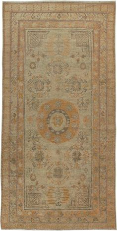 Antique Khotan Gallery Carpet, No. 13136 - 4ft. 5in. x 8ft. 11in.