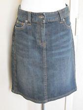 Ann Taylor size 2 blue denim stretch mini jean skirt above knee