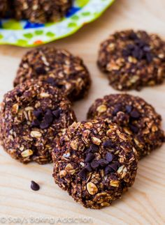 Skinny Chocolate Peanut Butter No Bake Cookies by sallysbakingaddiction.com