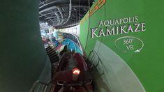 Napfényfürdő Aquapolis Szeged Kamikaze (night) 360° VR POV Onride