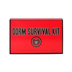 Dorm Survival Kit by Ms. & Mrs., Dorm Survival Kit by Pinch Provisions  Contains 12 must-haves: book light, caffeine gum, eye mask, earplugs, first aid kit, thermometer, laundry bag, laundry instructions, mending kit, air freshener, screwdriver, and poster adhesive #17college