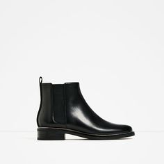 ZARA - WOMAN - STRETCH LEATHER ANKLE BOOTS