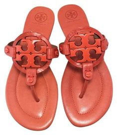 e3d3404a86b830 Tory Burch Miller Flip Flop Poppy Orange Size 7  fashion  clothing  shoes