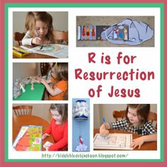 Preschool Alphabet: R is for Resurrection