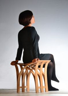 Flexible Bamboo Stool by Grass Studio
