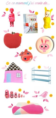 "Aujourd'hui c'est wish list déco et mignonneries girly.  Poulette Magique – home of kawaii, girly author of ""Mon Sweet Home Girly"" and co-writter of ""Fais le toi Même"" blog."