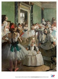 This poster is a reproduction of a work by the impressionist painter Edgar Degas exhibited at the Musée d'Orsay. Edgar Degas The Dance Classroom - Between 1871 and 1874 Oil on canvas H. Edgar Degas, Artist Canvas, Canvas Art, Canvas Prints, Renoir, Henri Matisse, Ballerine Degas, Degas Ballerina, Degas Paintings