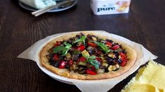 Roasted Mediterranean vegetable open tart