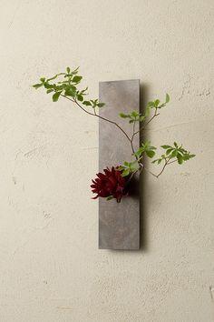 on the wall mini 壁掛けフラワーベース Ikebana Arrangements, Ikebana Flower Arrangement, Flower Arrangements Simple, Arte Floral, Deco Floral, Floral Design, Cactus Flower, Flower Vases, Flower Art