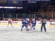 Grand Rapids Griffins vs. Toronto Marlies game at Comerica Park (12/31/13)