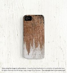 Wood iPhone 5 case, wood iPhone 4 case, wood print iPhone 4 case, High quality 3D Gift for men, scratch black and white painted wood /c12 on Etsy, $22.99
