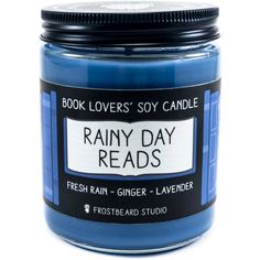 Rainy Day Reads 8 Oz Book Lovers Soy Candle Book Candle Book Lover... (243.090 IDR) ❤ liked on Polyvore featuring home, home decor, candles & candleholders, candles, candles & holders, container candles, grey, home & living, home décor and grey candle holders