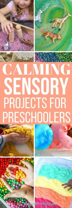 Looking for calming and sensory projects for preschoolers? We have a list of 20 sensory activities for kids. sensory projects | sensory projects for toddlers | sensory projects for kids | sensory projects for preschoolers | sensory projects for babies |