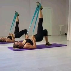 Fitness Workouts, Band Workouts, Fitness Workout For Women, Body Fitness, Butt Workout, Workout Videos, At Home Workouts, Exercise Bands, Fitness Band