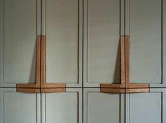 wooden handles by Workstead Park Slope Brooklyn NY Interior Design Kitchen Cabinet Pulls, Kitchen Handles, Wooden Handles, Door Handles, Door Pulls, Cabinet Handles, Pull Handles, Door Knobs, Wardrobe Handles