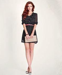 Polka dot dress #fashion