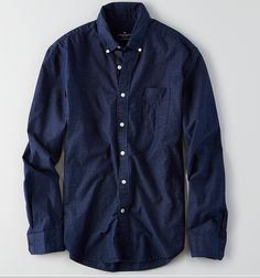 Deep Blue Shirt / Stunning, casual, intense / Property of American Eagle #DeepBlue #Clothing #ButtonDown