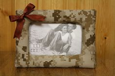 Padded Military Cammie Picture Frame (USMC Desert/Woodland, Army, Navy, Air Force)