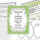This Common Core package includes 114 pages of everything you will need to teach comparing and ordering fractions using 1/2 benchmarks, visual models, multiples, and least common multiples. The end objective is to compare and order fractions by finding common denominators for fractions with unlike denominators. $