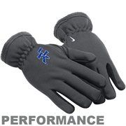 Nike Kentucky Wildcats Charcoal Therma-FIT Performance Gloves  #Fanatics