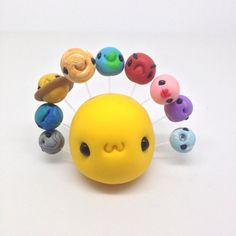 Solar System Project, Cute Little Sun And Stars, Clay Fimo Easy Polymer Clay, Polymer Clay Figures, Polymer Clay Animals, Polymer Clay Miniatures, Polymer Clay Projects, Polymer Clay Charms, Diy Clay, Polymer Project, Fimo Kawaii