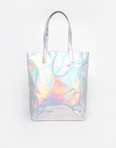 ASOS   ASOS Hologram Shopper Bag at ASOS