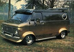 70's Chevy custom van