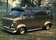 70's Chevy custom van