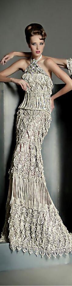 Blanka Matragi glamour gown
