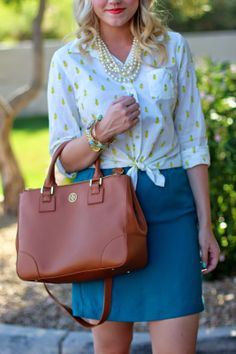 Living in Color Style printed top and skirt