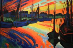 Max Pechstein, puerto de leba, (1922)