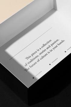 Folklor Co. Tag Design, Print Design, Design Ideas, Cover Design, Packaging Design Inspiration, Graphic Design Inspiration, Luxury Graphic Design, Editorial Design, Layout